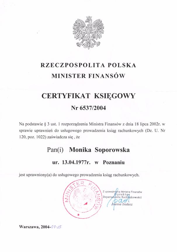 Monika Soporowska Biuro Rachunkowe Poznań Rataje Polanka Katowicka